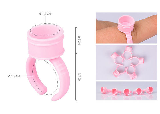 China Diâmetro tinta plástica cor-de-rosa Ring Tattoo Holer Equipment Supplies de 1.5cm/de 1.2cm fornecedor